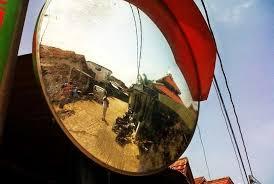 Cermin Rp pasang cermin cembung di tikungan pemkot anggarkan rp 1 7 m