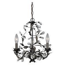 vaxcel h0149 trellis 3 light mini chandelier in architectural