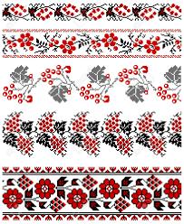 illustrations of ukrainian embroidery ornaments patterns frames