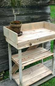 bench made out of pallets bench made from pallets pallet potting bench garden potting bench