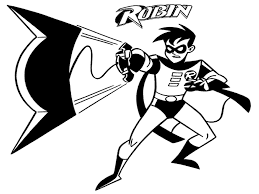 robin coloring pages with batman coloringstar