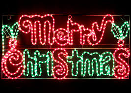 merry lights sign lights card and decore