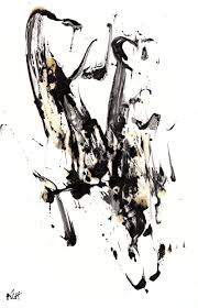 Design Your Own Apartment by Original Abstract Black And White Painting 1955 032814 Modern Art