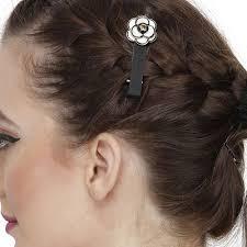 designer hair accessories anuradha white colour sparkling designer hair