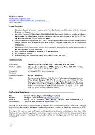 Software Developer Intern Resume Sr Software Engineer Resume Corpedo Com