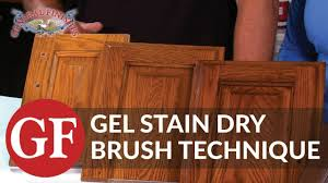 wood stain kitchen cabinets how to gel stain kitchen cabinets using dry brush technique youtube
