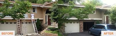 Before And After Home Exteriors by Paris Paintings Quality Painters In Golden Valley Mn