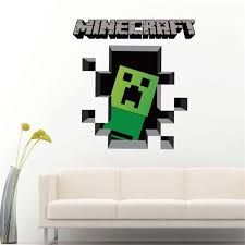 Minecraft Bedroom Decals by Newest Minecraft 3d Wall Stickers For Kids Rooms Minecraft Steve