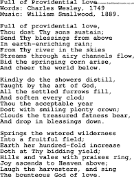 thanksgiving and harvest hymns songs of providential