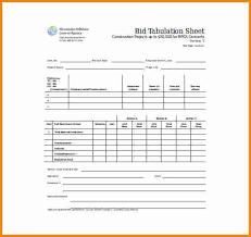 Bid Sheet Template 11 Bid Sheet Template Cashier Resume