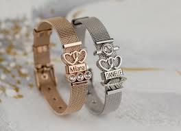 bracelet mesh images Mesh charm name rose ducett jpg