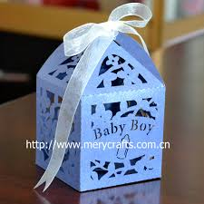 where to buy party favors laser cut baby boy favor boxes for baby shower party supplies
