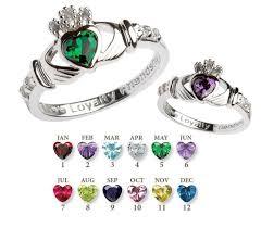 sterling rings images Rings sterling silver birthstone claddagh ring irish crossroads jpg