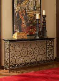 Wrought Iron Console Table Wrought Iron Console Table House Furniture Ideas