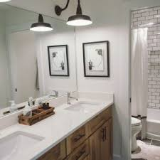 farmhouse bathroom lighting ideas home design captivating brushed nickel vanity light bath vanity