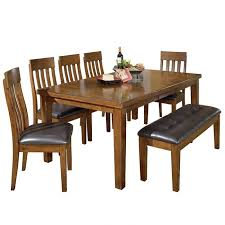 ashley ralene 6 piece rustic dining set with bench weekends only