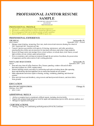 Custodian Resume Skills Stunning Janitorial Resume Skills Pictures Simple Resume Office