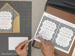 foil sted wedding invitations simple trick to add metallic accents to wedding invitations
