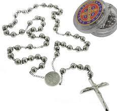 catholic rosary catholic rosary pray necklace stainless steel
