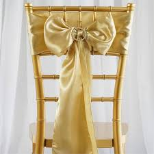 wedding chair sashes 5 pcs chagne satin chair sashes tie bows catering wedding party