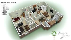 floor plan 3 bedroom house 3 bedroom house plans 3d creative designs 5 two story house plans 3