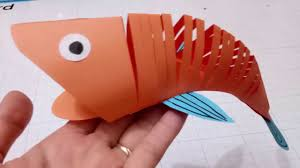 how to make a paper moving fish easy crafts 3d paper fish for kid