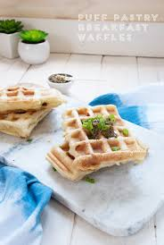 Red Kitchen Recipes - puff pastry breakfast waffles