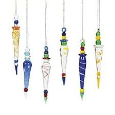 trading company glass icicle multi color 12
