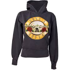 amplified vintage ladies guns n roses logo hoodie from ampli