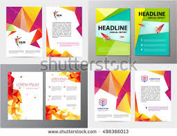 Business Letterhead Design Vector Vector Set Document Letter Logo Style Stock Vector 498366013