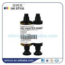 tattoo id card printer pack of 2pcs generic evolis r3411 ymcko 100prints color ribbon use