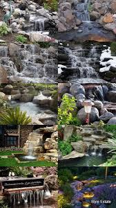 garden waterfalls home outdoor decoration