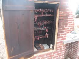 Outdoor Brick Fireplace Grill by Smoker W Wooden Door Not Sure How Long This Would Stand Up Bbq
