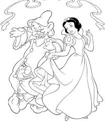 coloring dazzling dopey coloring princess snow white