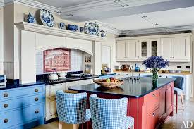 electric blue kitchen cabinets 27 kitchens with colorful accents architectural digest