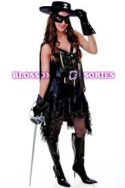 i22 zorro woman costume masked movie hero fancy dress mexican