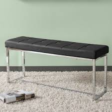 Contemporary Upholstered Bench Black Entryway Benches You U0027ll Love Wayfair