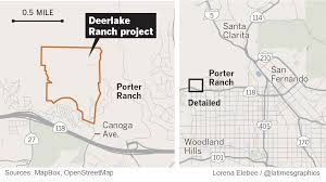 Porter Ranch Map High End Housing Planned On 230 Acres Next To Porter Ranch La Times