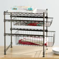 Wayfair Basics Wayfair Basics Stackable Kitchen Cabinet Organizer - Kitchen cabinet shelving