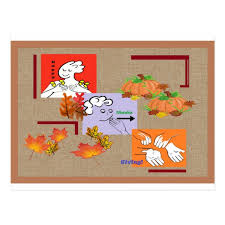 american sign language asl happy thanksgiving postcard zazzle
