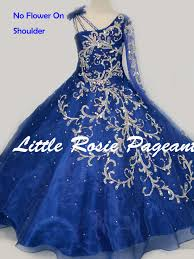 little rosie lr2170 one long sleeve ball gown pageant dress