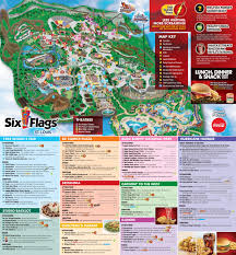 Six Flags In Usa Six Flags St Louis Park Map