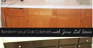 Java Gel Stain Cabinets Transform Your Golden Oak Cabinets With Java Gel Stain