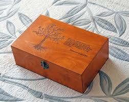 engraved memory box custom jewelry box etsy