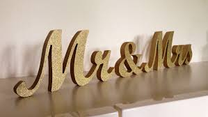 mr and mrs table decoration glittered mr mrs wedding wood sign for sweetheart table