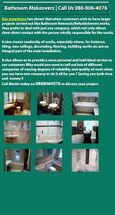 bathroom renovations and makeovers in laois kilkenny carlow
