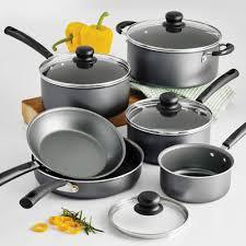 home pans tramontina primaware 10 piece nonstick cookware set steel gray