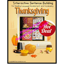 build a sentence with pictures interactive thanksgiving