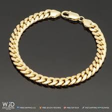gold box chain bracelet images 14k yellow gold 7 5 mm wide miami cuban link men 39 s bracelet 14g jpg