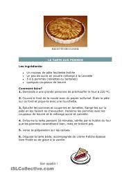 exercice recette de cuisine recette de cuisine classe de francais recettes de